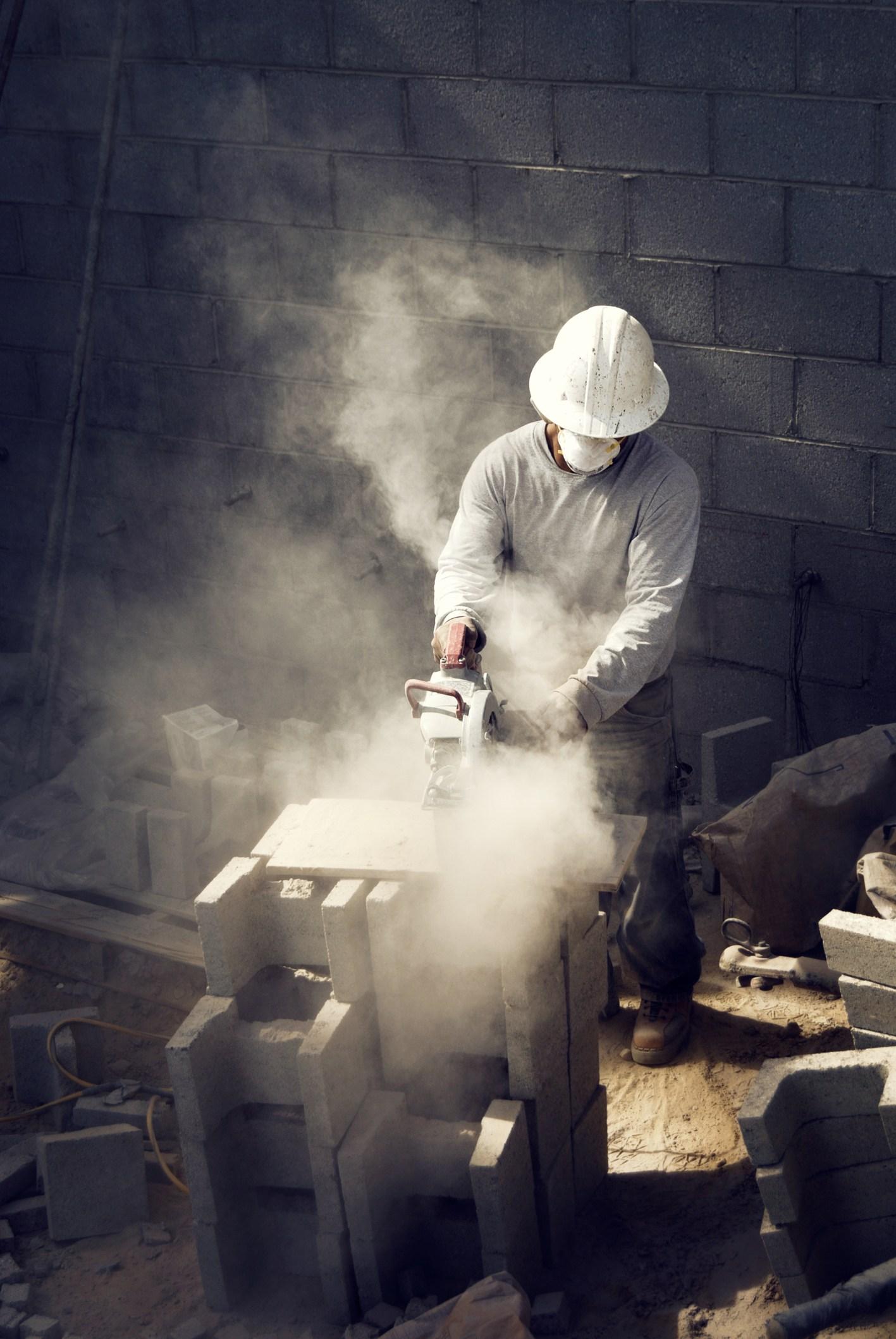 silica dust delay